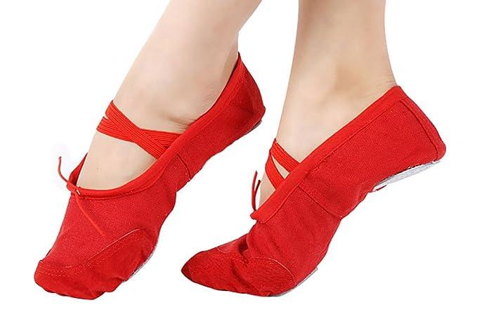 Happy Cherry - Zapatillas de Ballet Tutú de Piel Punta Reforzada Infantil - Talla 28 Rojo: Amazon.es: Ropa y accesorios