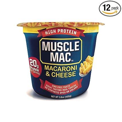 Muscle Mac | Macarrones y Queso Microondas Mega Copas, 20 ...
