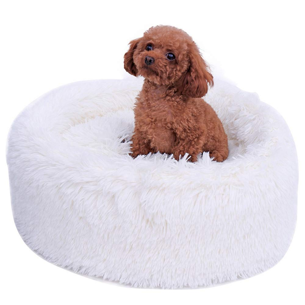Wuwenw Cama para Mascotas Cute Waterproof White 3 Kinds Lavable Mat Kennel Nest Disponible Classic Solid Pet House, A