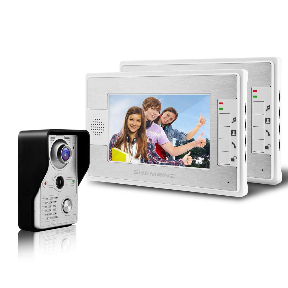 WLAN Video Türsprechanlage Intercom System, 1x 7 Zoll WLAN Monitor + 1x 720P verdrahtete Türklingel Kamera