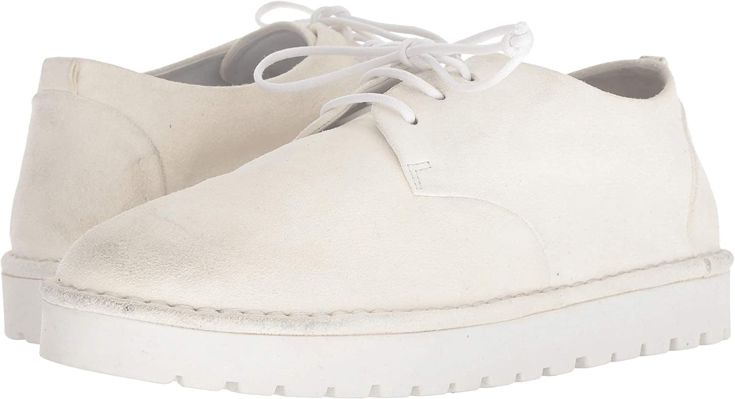 White marsell Womens Gomme Patent Lace-Up