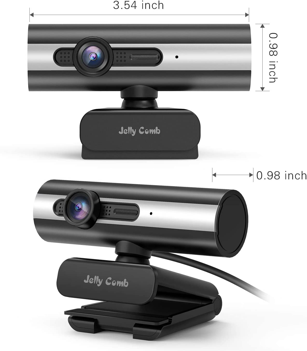 Webcam 1080P Full HD Recording Jelly Comb Computer Camera USB Web Camera with Built-in Microphone for Skype Video Calling,Conferencing Streaming