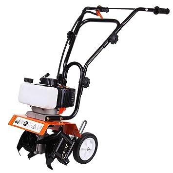 Iglobalbuy Mini Cultivador Tiller Aire enfriado por Gas Gasolina Powered Farm Plant Jardín Yard Cultivador Sierpe Motor-52cc 1.65kw Orange Garden Tiller ...