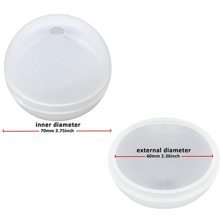 SODIAL DIY Molde de Silicona Pisapapeles para Arcilla Polimérica, Artesanía, Resina Epoxídica, Fabricación de Joyas de 2 Paquetes: Amazon.es: Hogar