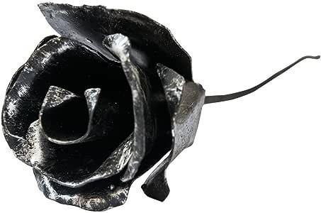Hide & Drink Hand Forged Wrought Iron Rose Decorative Flower Centerpiece Decoration Houseware Ornament Handmade