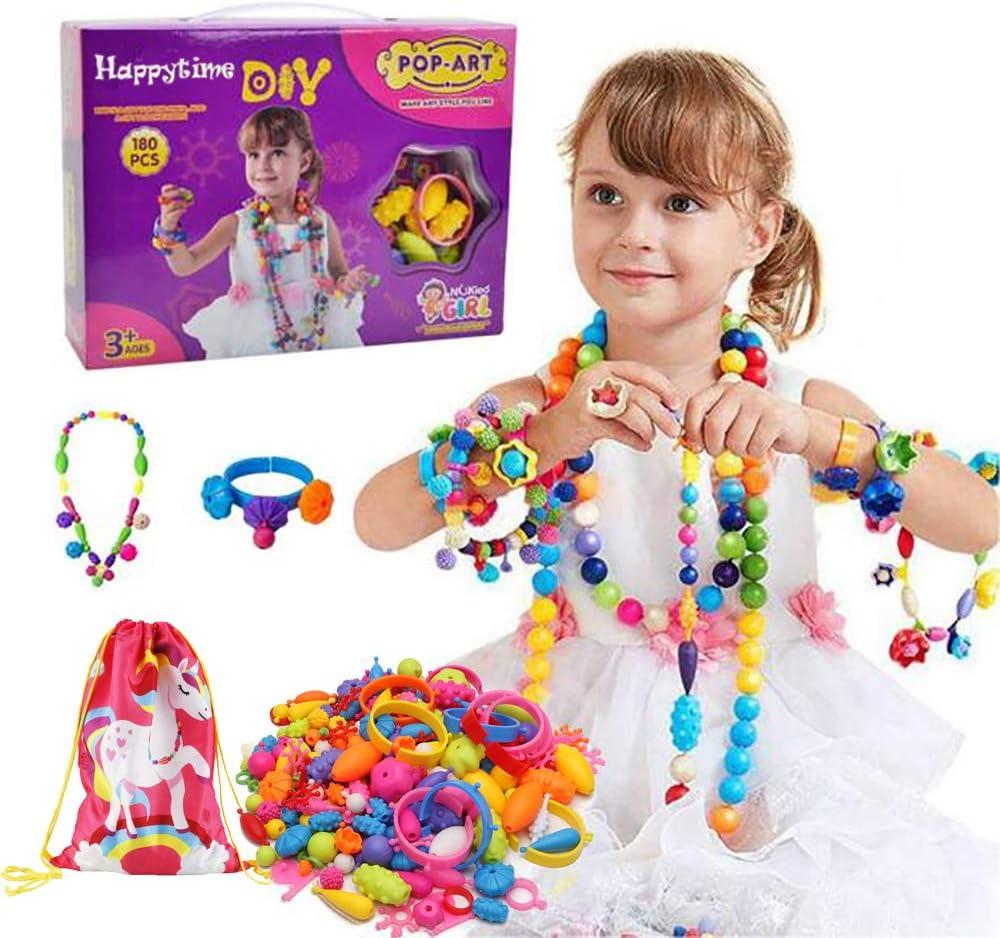 Girl Kids DIY Bracelet Art Craft Make Own Beads for Jewellery Making Set Box Kit