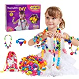 Happytime Snap Pop Beads Girls Toy 180 Pieces DIY Jewelry Marking Kit Fashion Fun for Necklace Ring Bracelet Art Kids…