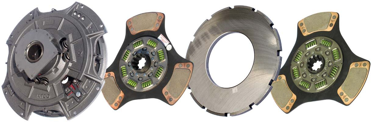 IATCO 107034-61-IAT 14'' x 2'' Angle Spring Clutch (Two-Plate, 3-Paddle / 8-Spring, 3200 Plate Load / 1150 Torque) by IATCO