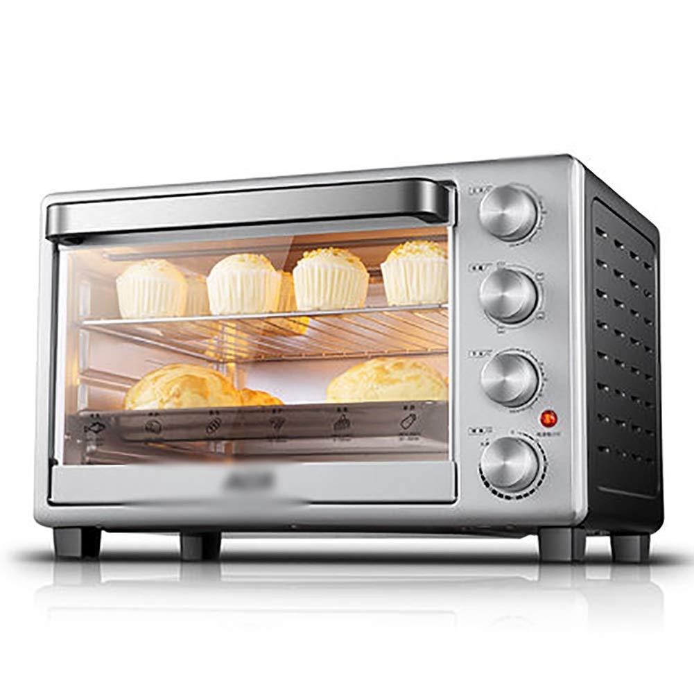 NKDK オーブン - 1600W 30 L電気ミニオーブンとグリル、複数の調理機能付き、調節可能な温度制御とタイマー   B07PLWGKTG