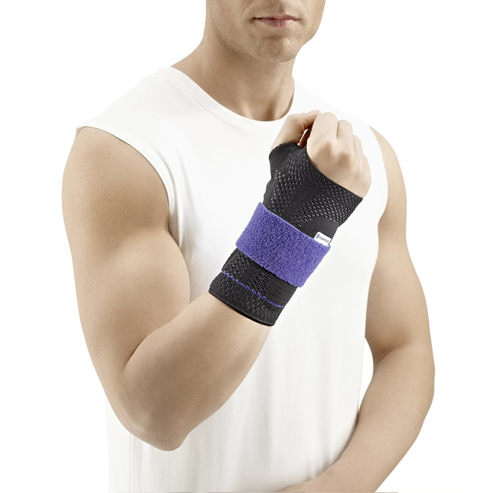 ManuTrain Wrist Support Size: Left 2, Color: Black