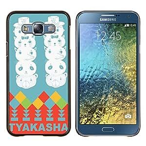 Dragon Case - FOR Samsung Galaxy E7 E7000 - Blue planet - Caja protectora de pl??stico duro de la cubierta Dise?¡Ào Slim Fit