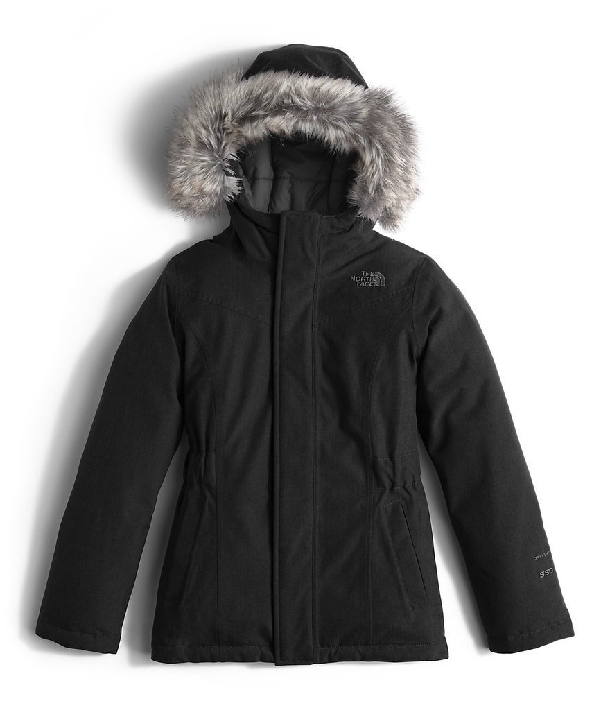 The North Face Kids Girls' Greenland Down Parka (Little Kids/Big), Tnf Black/Graphite Grey, XL (18 Big Kids)