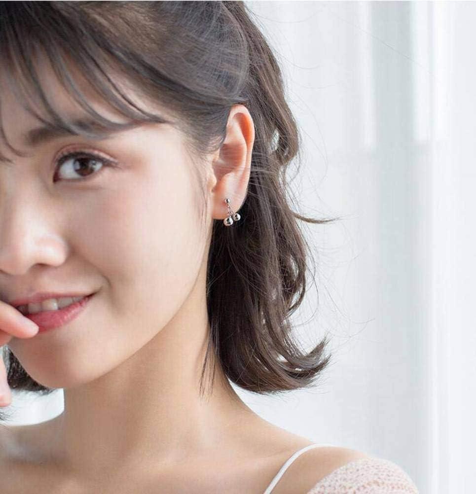 S&RL S925 Pendientes de Perlas Plateadas Estilo Japonés Y Coreano para Mujeres, Simples Y Dulces, de Orejas Cortas, Adornos de Bolas de Plata, Colgantes, Orejas, Joyasplata, Plata 925