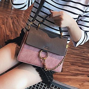 OME QIUMEI Sac À Main Femme Sac Oblique Avec Un Seul Sac D Épaule Pink  23x19x7cm a18b2822d68