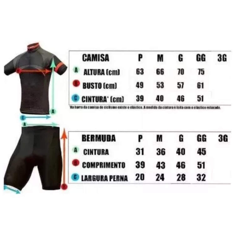 CONJUNTO ROUPAS CICLISMO CAMISA E BERMUDA MARCA PENKS COR VERMELHO COM  PRETO  Amazon.com.br  Esportes e Aventura de4727f8ecf92