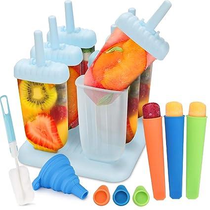 Molde para Helados 6 Fabricantes de Paletas Heladas, 3 Moldes de silicona para helados Reutilizable