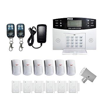 MagiDeal 16 En 1 Kit Alarma Contra Intrusos Inalámbrico GSM SMS Seguridad Antirrobo Sistema Enchufe Sensor PIR: Amazon.es: Bricolaje y herramientas
