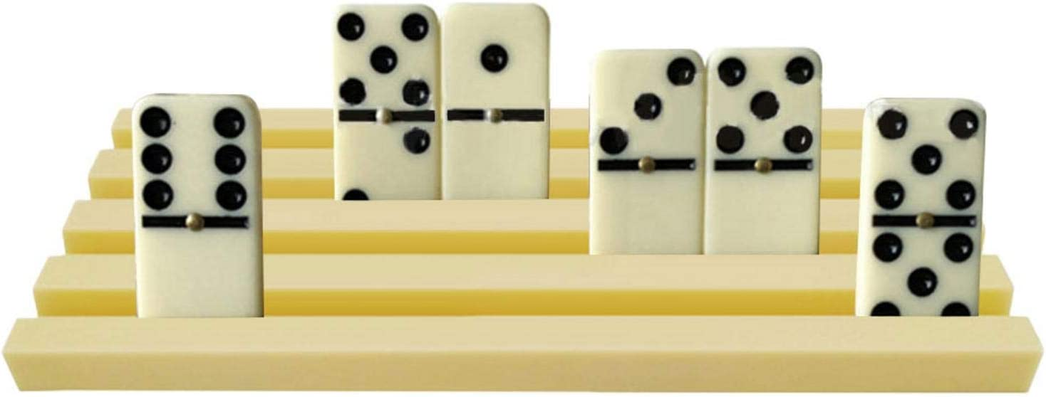 Domino Racks Domin Tiles Trays 4PCS Domino Holder Mexican Train 7.483.580.47in for Chicken Foot not included Dominoes and Domino Games