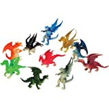 U.S. Toy Assorted Color and Design Mini Dragon Action Figures (12), Multi, 2""