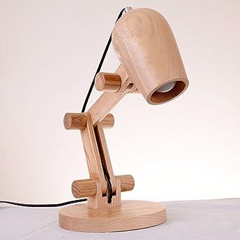 SJQKA-Lámparas de mesa de estilo europeo dormitorio, lámparas de ...