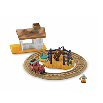 Fisher-Price GeoTrax Rope 'n Ride Ranch: Toys & Games