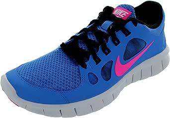 NIKE Free 5.0 Zapatilla de Running Chicas, Azul/Rosa, 35.5: Amazon ...