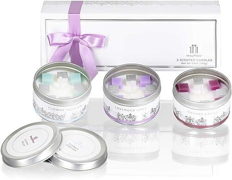 La caja de regalo velas perfumadas regalos para mujeres y señoras regalos de cumpleaños son para parejas y aniversarios y regalos de cumpleaños para ella.: Amazon.es: Iluminación