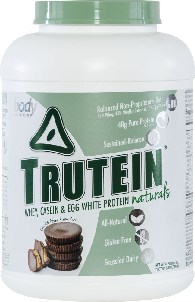 Body Nutrition Trutein Naturals Chocolate Peanut Butter Cup Protein Blend 4 LB