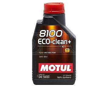MOTUL 8100 Eco-clean + Acea C1 5 W-30 Aceite de motor de coche totalmente sintético - 1 l: Amazon.es: Coche y moto