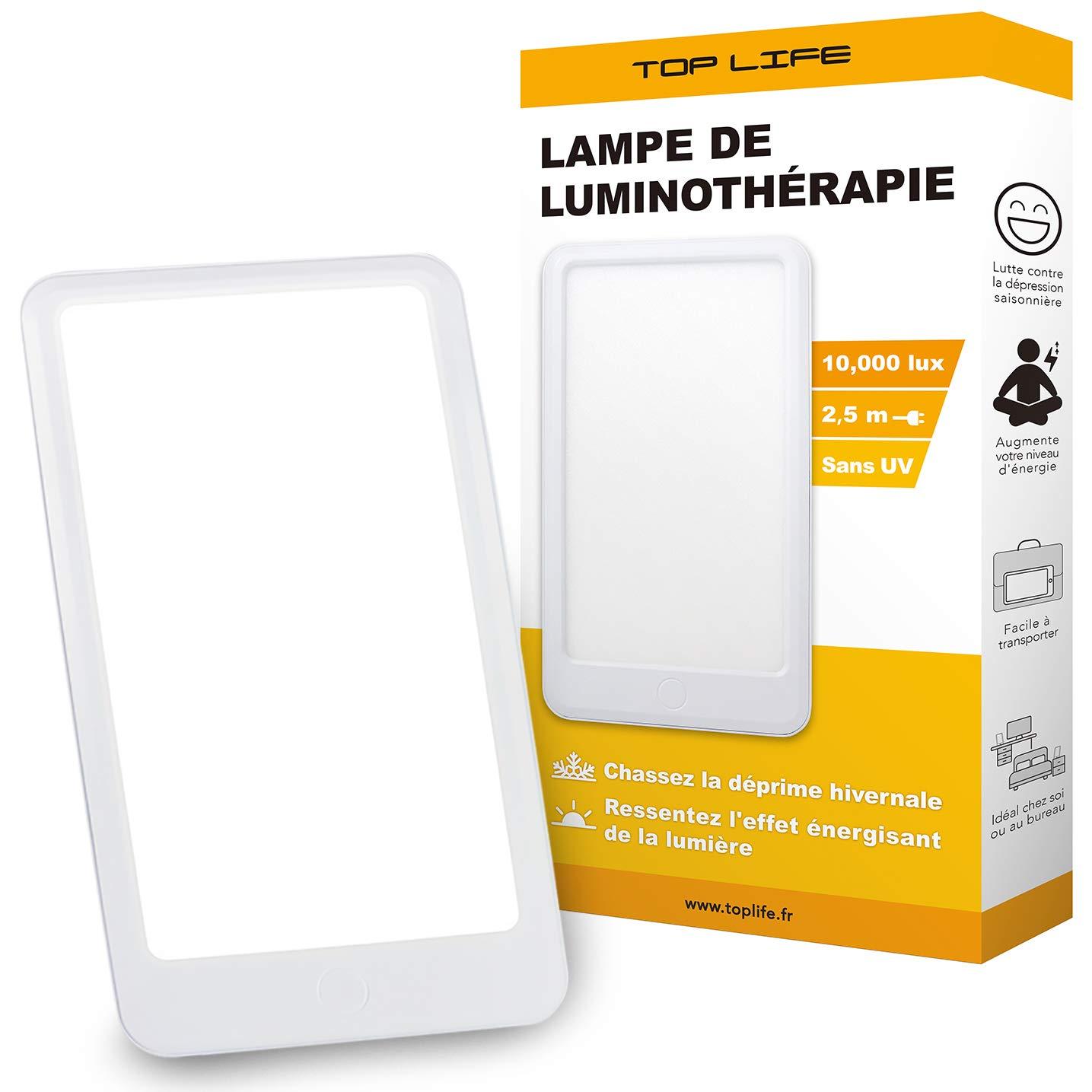 Lá mpara de luz diurna natural 10000 lux - Lampara Luminoterapia Eficiencia Terapé utica para combatir la Depresió n y Trastorno Afectivo Estacional Top Life TL