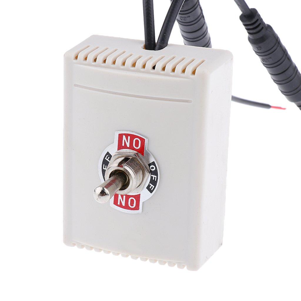 Gazechimp 1 Pieza Interruptor Basculante y de Palanca Manual para Actuadores Lineales de CC 12/24 /36 / 48V - 12V: Amazon.es: Bricolaje y herramientas