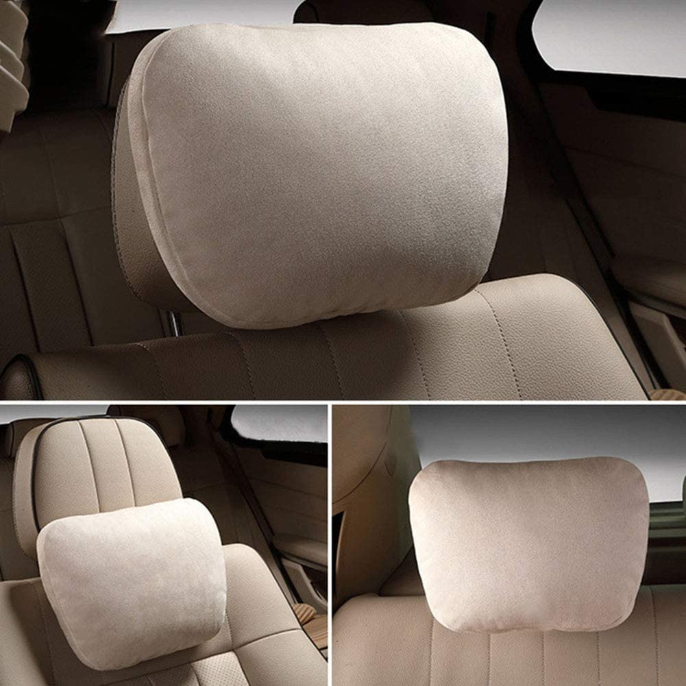 Black Relief Exhausted Comfortable Soft Skin-Friendly Koueja101 Headrest Car Seat Comfortable Head Neck Rest Cushion Support Safety Pillow Headrest Pad