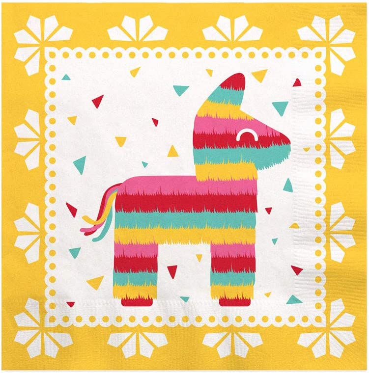 Big Dot of Happiness Let's Fiesta - Mexican Fiesta Cocktail Beverage Napkins (16 Count)