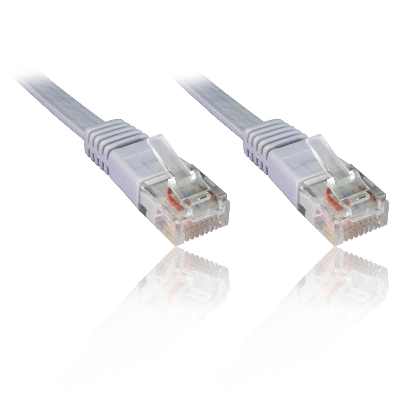 10m Flat Cat5e Ethernet Patch Cable Grey Low Smoke Zero Halogen Uk Wiring Colours Computers Accessories