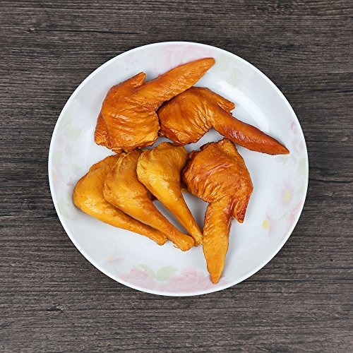 ZUINIUBI Fake Chicken Wings and Legs Fried Artificial Food Prop Model for Kitchen Home Party Decoration Market Display 6pcs -
