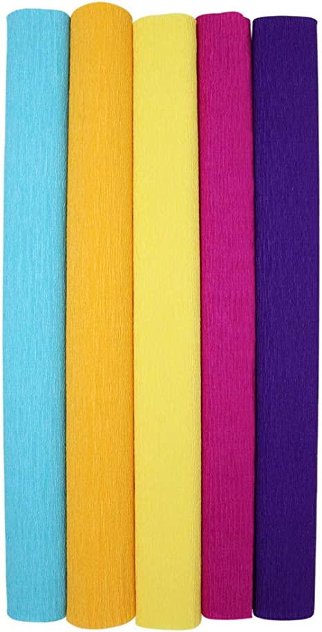 8ft Length//20in Width Color: Royal Purple Just Artifacts Premium Crepe Paper Roll