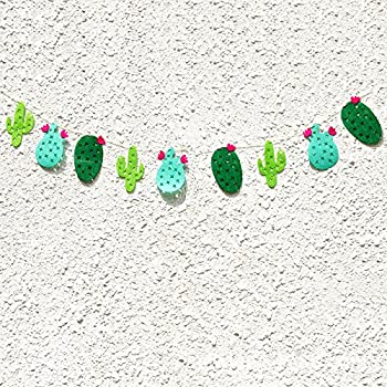 BESTOYARD Cactus Party Banner Fabric Garland Banner for Tropical Party Birthday Party Festival Decoration