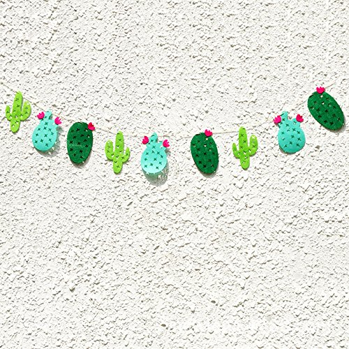 Find Bargain BESTOYARD Cactus Party Banner Fabric Garland Banner for Tropical Party Birthday Party F...