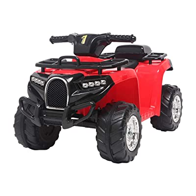 Gearupz Toy Vehicles Small Beach Bike Single Drive Battery 6V4.5AH 1 with Music Board Red: Toys & Games
