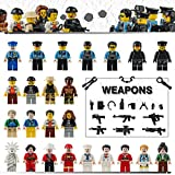 Minifigures Building Bricks Community People – Set of 24 Education Role Play Minifiugres 100% Compatible with All Major Brick Sets Birthday Gift For Kids
