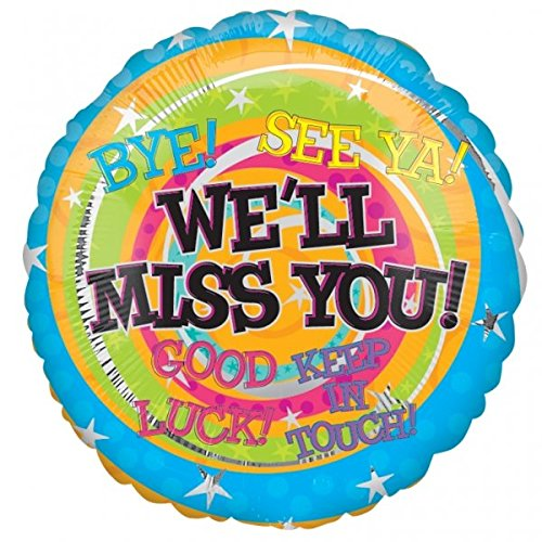 Anagram 17964 We'Ll We'Ll Miss You Messages Foil Balloon, 18