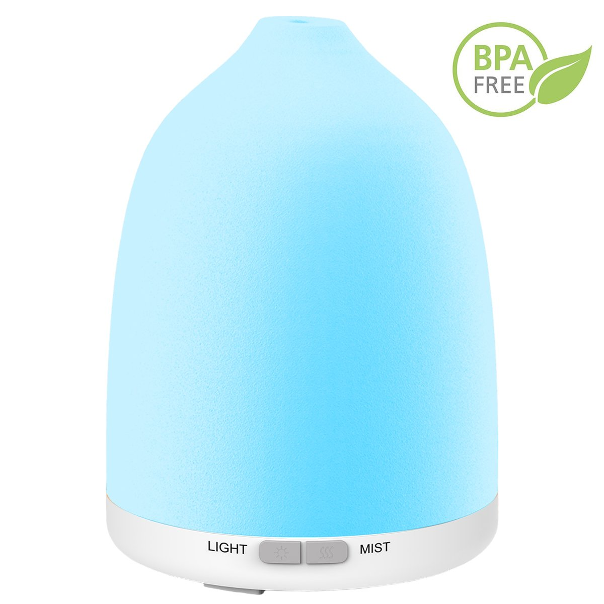 Iextreme Essential Oil Diffuser, 8 Color Changing LED Lights 120ml Aromatherapy Oil Diffuser with Adjustable Mist Mode Waterless Auto Shut-off humidifier for Home Yoga Spa Office Baby