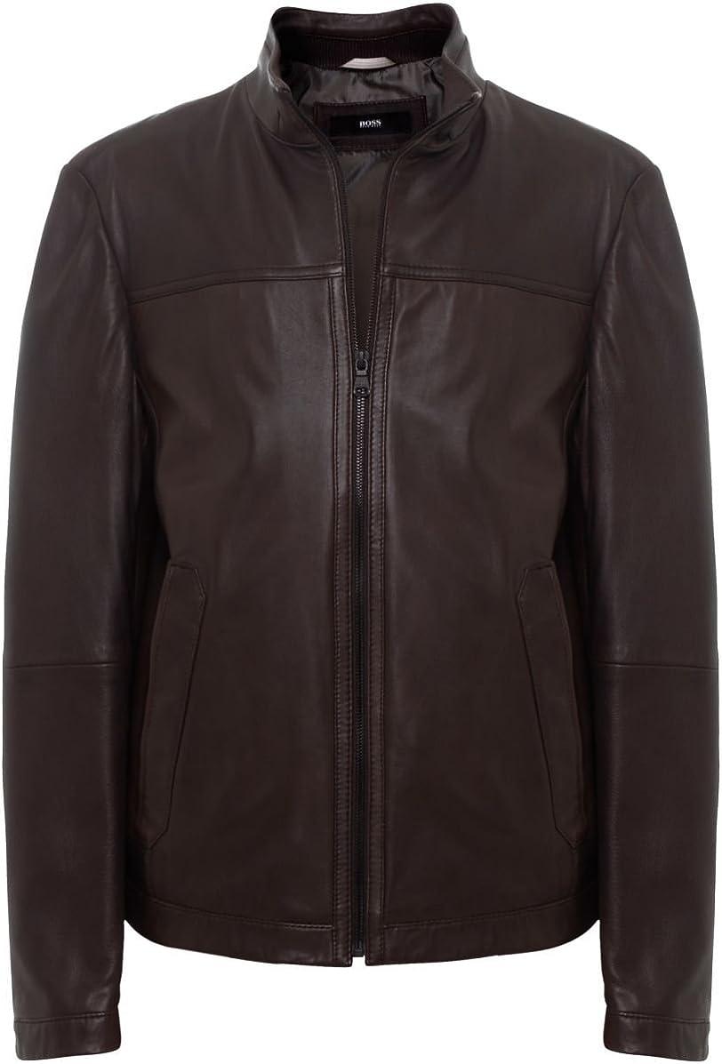hugo boss nilas leather jacket