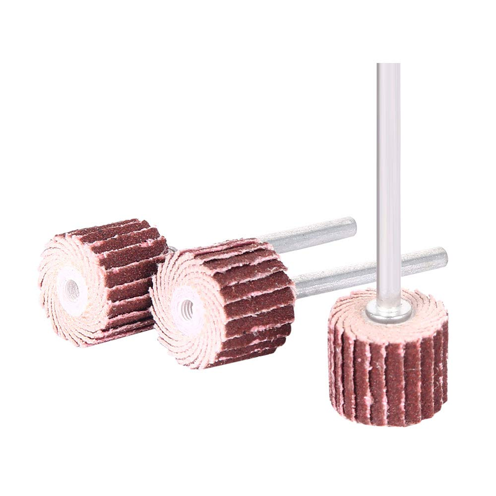 with 40 mm Handle for Rust Removal Deburring Polishing Satin-Finishing Abrasive Grinding Tool WarmCare 50 Pack 80#~600# Grit Shank Mounted Flap Wheels Sanding Sandpaper Flap Wheel