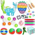 Dan&Dre 25Pcs Fidget Stress Relief Toy Set Sensorial Brinquedo Espremer Bolha Brinquedos para As Crianças E Adultos Com TDAH