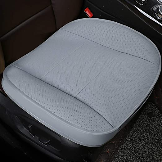 2Pcs Bamboo Charcoal PU Leather Auto Seat Full Surround Cover Chair Cushion Mat