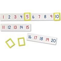 Learning Resources 1-100 Magnetic Number Line,9-1/2 L x 2-1/4 W in