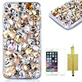 iPhone 6S Plus Case,iPhone 6 Plus Case,CASELAND [Shiny Pattern] Luxury Bling Hard Case Handcraft Back Skin Cover Crystal Rhinestone Case For iPhone 6/6S Plus - Diamiond 2