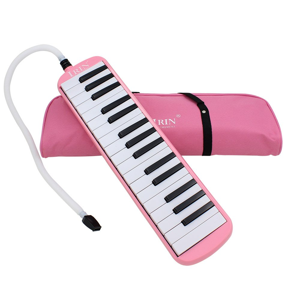 Huayao 32 Key Piano Style Melodica Musical Instruments With Carry Bag For Music Lover Beginner (Pink)