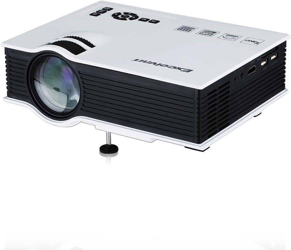 Excelvan® UC40 - Mini proyector portátil LED Home Cinema (800 ...